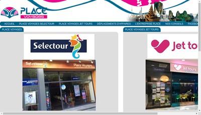 Site internet de Place Voyages