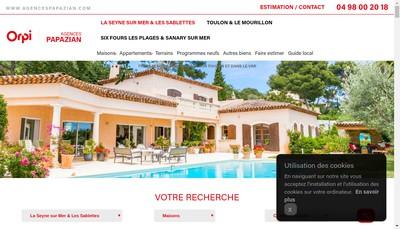Site internet de Agence Papazian