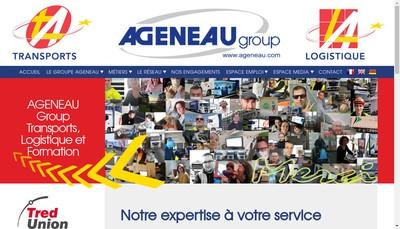 Site internet de Ageneau Transports