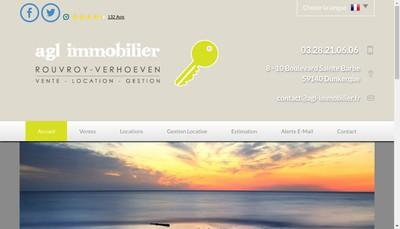 Site internet de Agl Immobilier