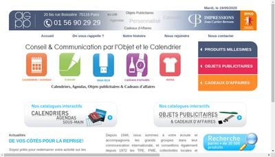 Site internet de Agence Generale de Presse et Publicite