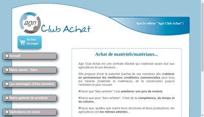 Site internet de Agri Club Achat