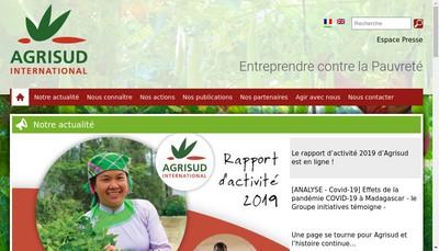 Site internet de Agrisud