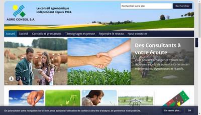 Site internet de Agro Conseil SA