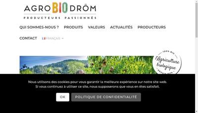 Site internet de Agrobiodrom