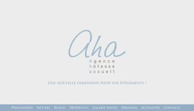 Site internet de Aha Agence Hotesse Accueil