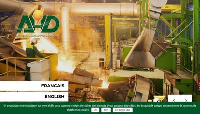 Site internet de Acieries Hachette et Driout
