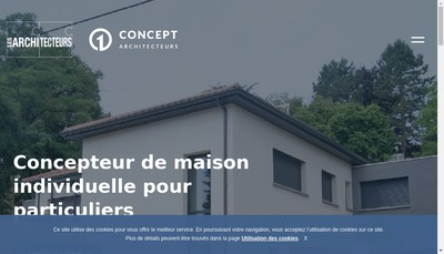 Site internet de 1 Concept Architecteurs