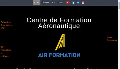 Site internet de Air Formation - Cfm 66