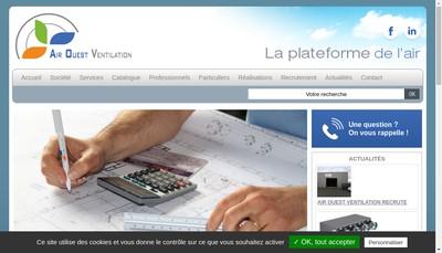 Site internet de Air Ouest Ventilation