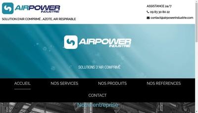 Site internet de Air Power Industrie