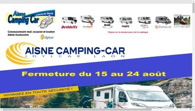 Site internet de Aisne Camping Car