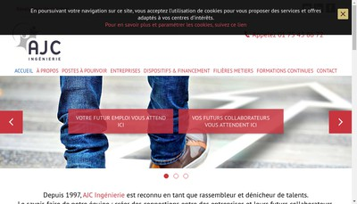 Site internet de AJC Ingenierie