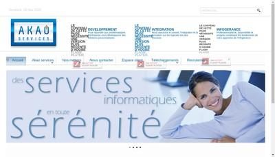 Site internet de A Ka O Informatique