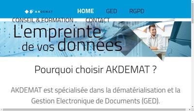 Site internet de Akdemat