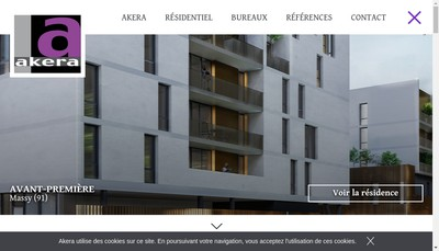 Site internet de Akera Developpement