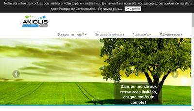 Site internet de Akiolis Group