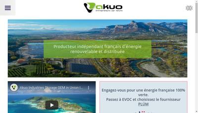 Site internet de Akuo Market France