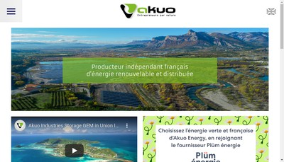 Site internet de Akuo Energy Uruguay
