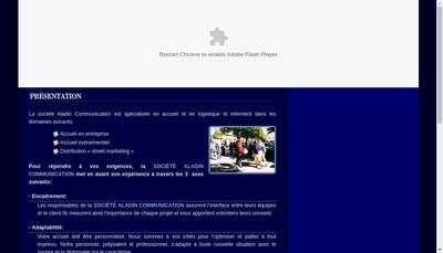 Site internet de Aladin Communication