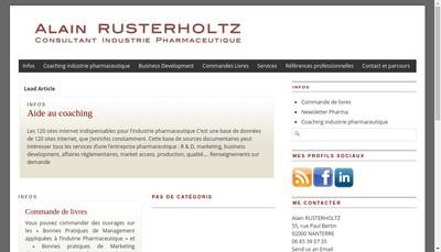 Site internet de Alain Rusterholtz