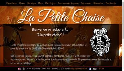 Site internet de La Petite Chaise