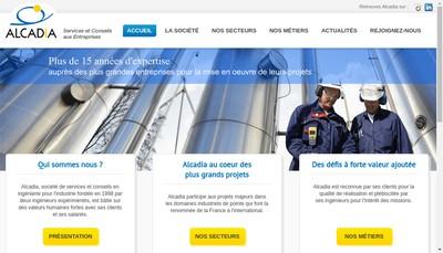 Site internet de Alcadia Entreprises