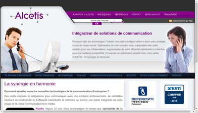 Site internet de Alcetis