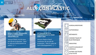 Site internet de Alencon Plastic