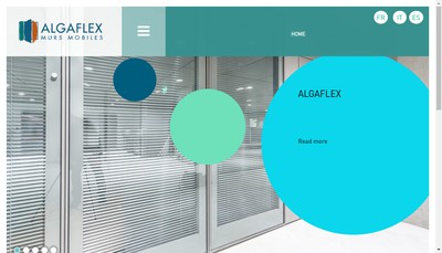 Site internet de Algaflex