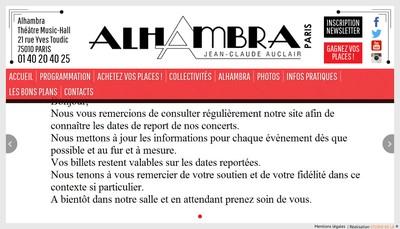 Site internet de Alhambra Diffusion