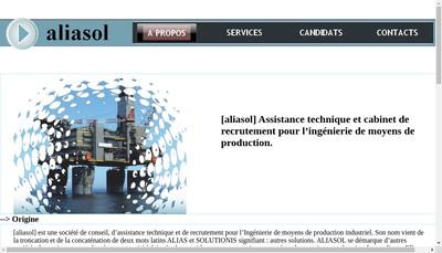Site internet de Aliasol