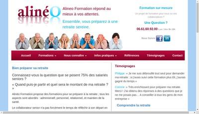 Site internet de Alineo
