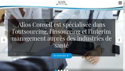 Site internet de Alios Conseil