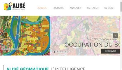 Site internet de Alise Geomatique