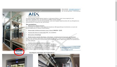 Site internet de Alix Ascenseurs