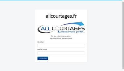 Site internet de All Courtage