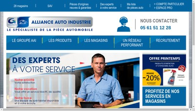 Site internet de Centre Auto Industrie