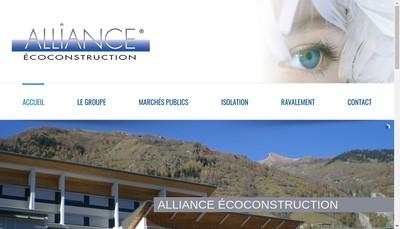 Site internet de Alliance Ecoconstruction