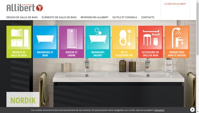 Site internet de Allibert Sanitaire