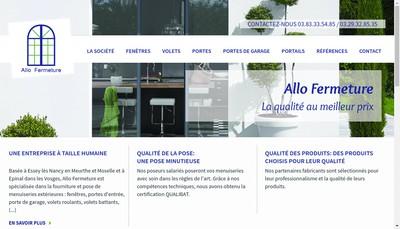 Site internet de Allo Fermeture
