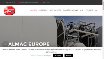 Site internet de Almac Europe