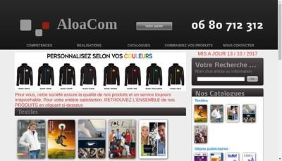 Site internet de Aloacom