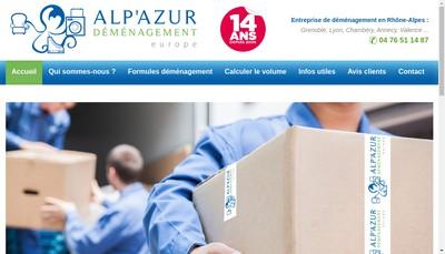 Site internet de Alp'Azur Demenagement Europe