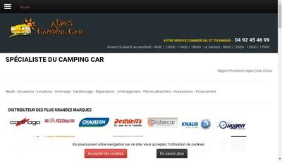 Site internet de Alpes Camping Car