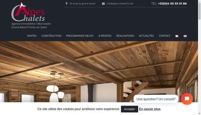 Site internet de Alpes Chalets Location