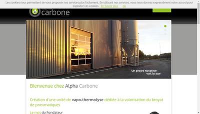 Site internet de Alpha Carbone