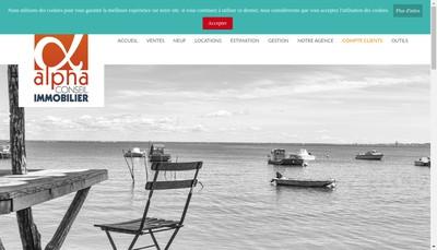 Site internet de Alpha Conseil Immobilier