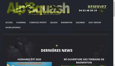 Site internet de Alp'Squash