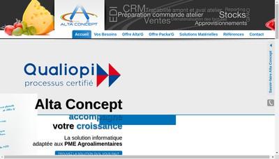 Site internet de Alta Concept